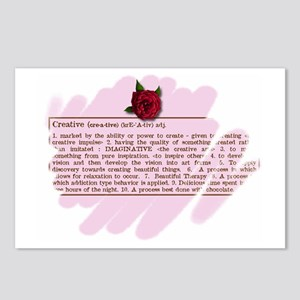 Creative Rose Postcards (Package of 8)