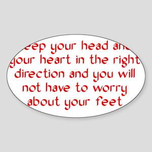 rightdirection_btle2 Sticker (Oval)