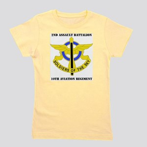 DUI - 2-10th Aviation Regiment with Tex Girl's Tee