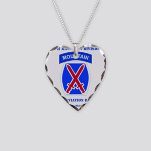 DUI - 10th Mountain Division  Necklace Heart Charm