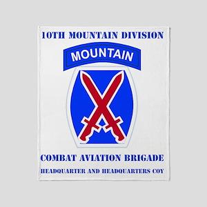 DUI - 10th Mountain Division - CAB H Throw Blanket