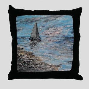 Sailing for Seashells Throw Pillow