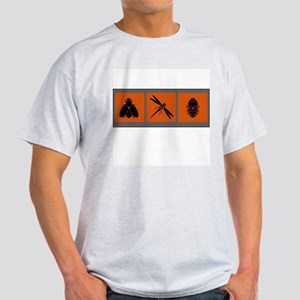 Three Insects (rust) Ash Grey T-Shirt