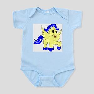 Baby Yellow Pegasus Infant Creeper Body Suit
