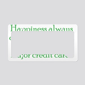 happinessprice_btle2 License Plate Holder