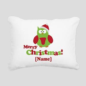 Personalized Merry Christmas Owl Rectangular Canva