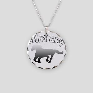 mustanghorsek Necklace Circle Charm