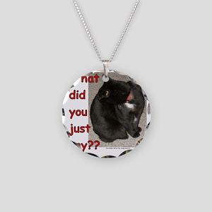 WhatDidYouSay Necklace Circle Charm