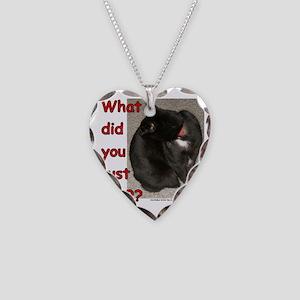 WhatDidYouSay Necklace Heart Charm