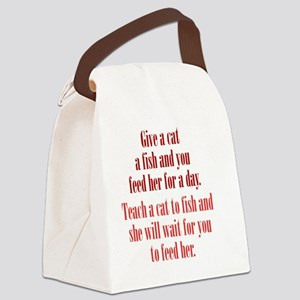 catF_rnd1 Canvas Lunch Bag