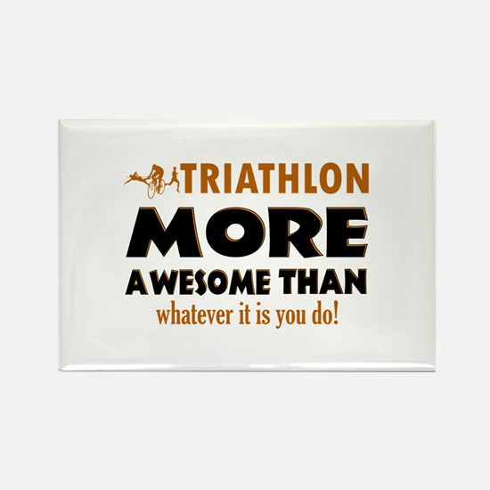 Triathlon is awesome designs Rectangle Magnet (10