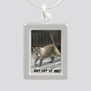 GetOffMyLawn Silver Portrait Necklace