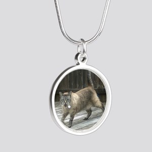 GetOffMyLawn Silver Round Necklace