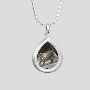 GetOffMyLawn Silver Teardrop Necklace