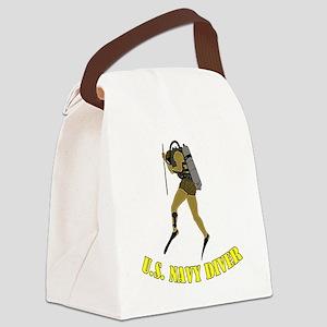 Navy Diver SCUBA Canvas Lunch Bag
