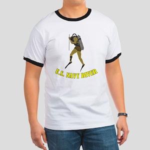 Navy Diver SCUBA Ringer T