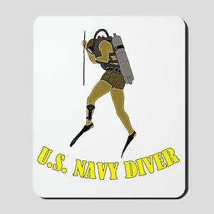 Navy Diver SCUBA Mousepad