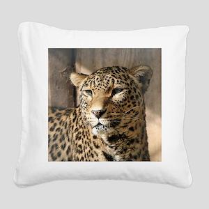 Leopard001 Square Canvas Pillow