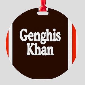Genghis Khan Round Ornament