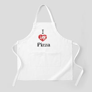 I heart Pizza vintage Apron