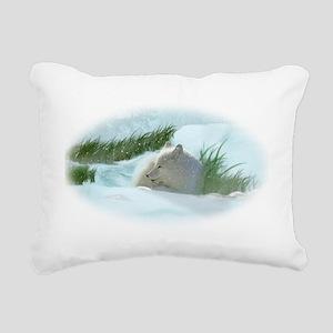 Articfox1 Rectangular Canvas Pillow