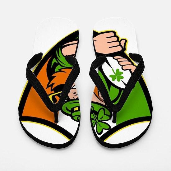 Irish leprechaun rugby player celtic sh Flip Flops