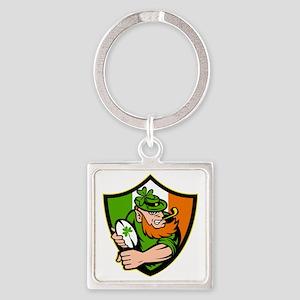 Irish leprechaun rugby player celt Square Keychain
