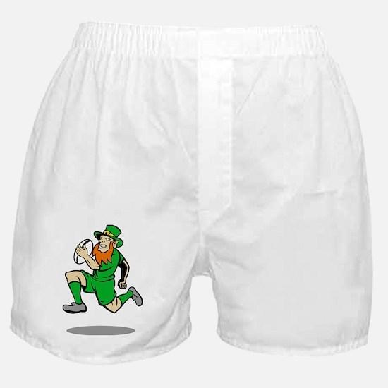 Irish leprechaun rugby player running Boxer Shorts