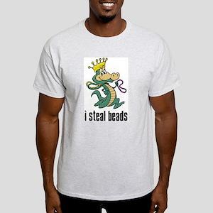 I Steal Beads Gator Ash Grey T-Shirt