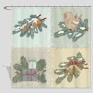 Winter Holidays Shower Curtain