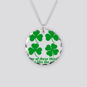 One Of These Things Light Necklace Circle Charm
