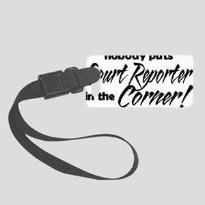 court reporter Small Luggage Tag