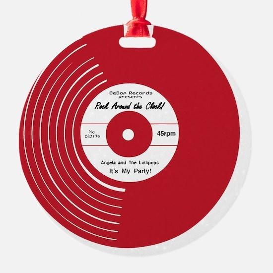 I Heart Vinyl Ornament