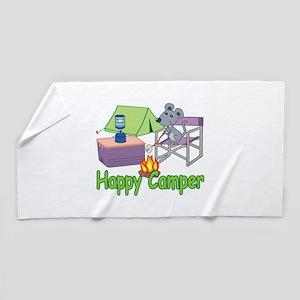 Happy Camper Beach Towel
