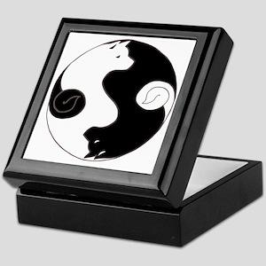 Ying Yang Akita Keepsake Box