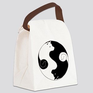 Ying Yang Akita Canvas Lunch Bag