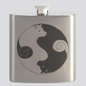 Ying Yang Akita Flask