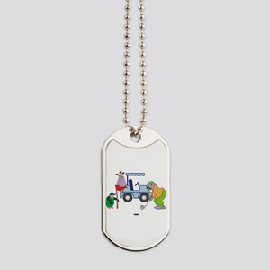 Playing Golf Dog Tags