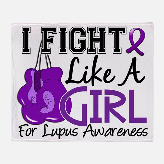 Fight Like A Girl Lupus 15.5 Throw Blanket