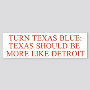 Turn Texas Blue 3 Bumper Sticker