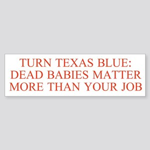 Turn Texas Blue 2 Bumper Sticker