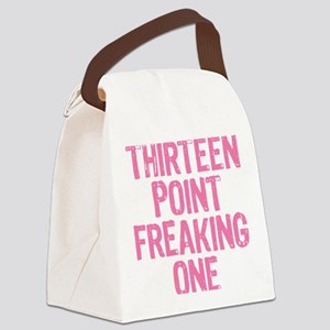 thirteen point freaking one Canvas Lunch Bag