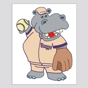 Softball Hippo Posters