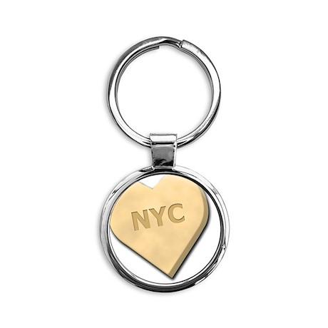 SWEETHEARTNYCYELLOW Round Keychain