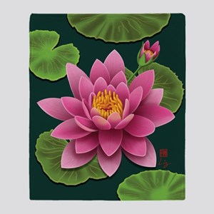 waterlily-pillow Throw Blanket