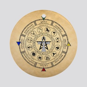 Wheel of the Year Zodiac Sabbats Ornament (Round)