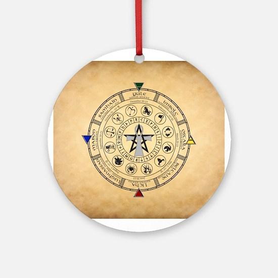 Wheel of the Year Zodiac Sabbats Ornament (Round)