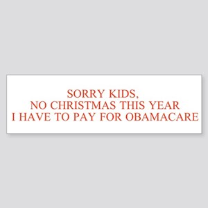No Christmas, Obamacare Instead Bumper Sticker