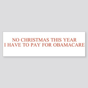 No Christmas, Obamacare Bumper Sticker 10 Pack