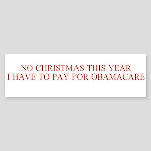 No Christmas, Obamacare Bumper Sticker 10 Pack